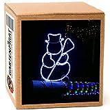 Neon-Lichtschlauchfiguren mit LED beleuchtet zur Deko Weihnachten außen (Schnemann 48x38 cm)