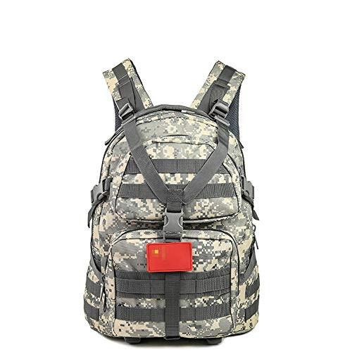 XGTsg Hiking Backpack Army Fan Tactical Package Oxford Waterproof Camouflage 3P Backpack Outdoor Sports Riding Mountaineering Bag 35L@The