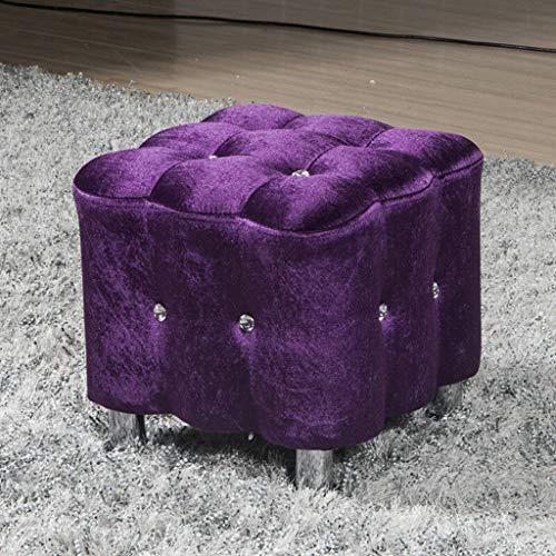 Liutao Krukken Eenvoudige massief hout vierkante kruk, koraal flanel woonkamer lage tafel voor schoen bank, kaptafel mini home kruk duurzame Krukken