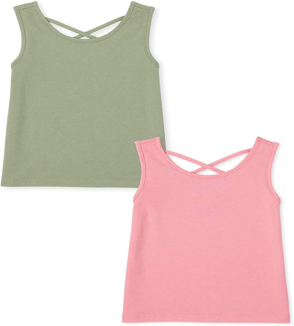 The Children's Sale SALE% OFF Place Baby Girls' Max 48% OFF Solid Two Pack Tops of Tank