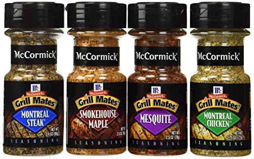 McCormick Grill Mates Variety Pack, Montreal Chicken, Montreal Steak, Mesquite Grill, Smokehouse Maple (Gewürzmischungen)
