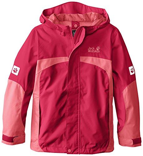 Jack Wolfskin Mädchen Jacke Topaz Texapore Jacket, Mädchen, 1604771, Azalea Red, 164 US(13-14 Years Old)