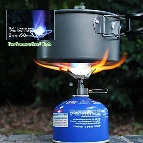 Lejie Mini Estufa de Camping Estufa de Cocina Plegable portátil Picnic Senderismo Barbacoa Estufa de Gas (BRS-3000T)