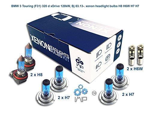 Ampoules de phares xénon lumineux| DIY, Kit simple d'utilisation | Compatible H8 H7 H7 Plus ampoules éclairage latéral gratuites H6W