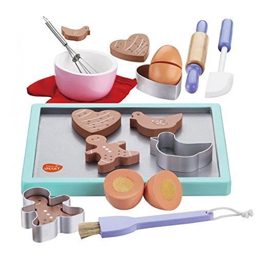 bee SMART - Lot de Faux Accessoires de pâtisserie en Bois pour Enfants