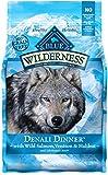 BLUE Wilderness Grain-Free Denali Dinner with Wild Salmon, Venison & Halibut Dry Dog Food 4-lb