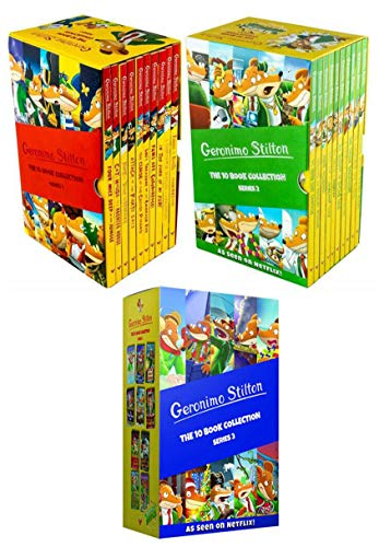 Geronimo Stilton Series 1, Series 2 and Series 3 - 30 Books Collection Box Set