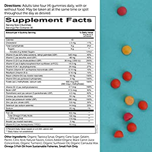 SmartyPants Prenatal Formula Daily Gummy Multivitamin: Vitamin C, D3, & Zinc for Immunity, Folate for Fetal Development, Vitamin K for Bone Health, CoQ10 for Heart Health, 120 Count (30 Day Supply)