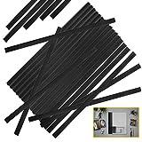 YG_Oline 48 Pcs Black Slide Grip Binding Bars, Spine Bars for School Office Report Covers File Holder, A4 Size, 40 Sheets Capacity, 12 Inch
