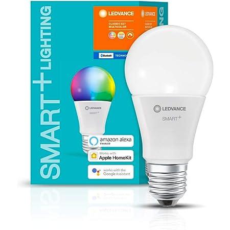 LEDVANCE Lampe Smart LED avec Bluetooth, E27,couleur variable (2700-6500K),couleurs RVB modifiables,remplace lampes à incandescence par 60W,contrôlable avec Google,Alexa et Apple,SMART+ BT MULTICOLOUR