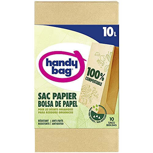 Handy Bag Bolsas de Papel, para Basura 10L, 10 Bolsas