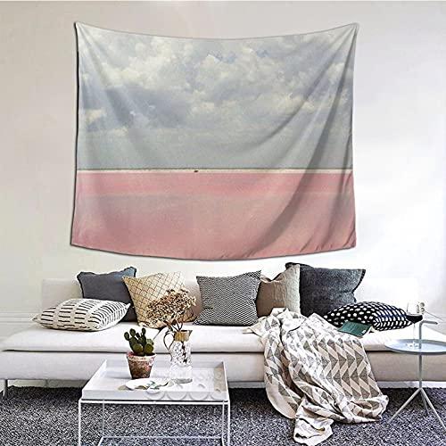 Tapiz de agua del lago rojo para colgar en la pared, decoración del hogar, cortina para dormitorio, collage dormitorio, oficina, 152 x 51 cm