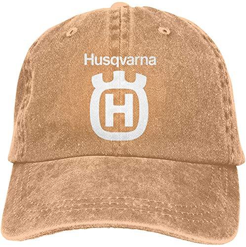J5E7JYTE Husqvarna Logo Baby Onesies Denim Baseball Cap Men Women Golf Hats Adjustable Plain Cap