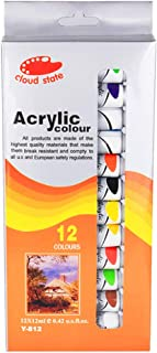 GIMEVAR 12 x 12ml Heavy Body Colors Rich Pigments Acrylic Paint Set for Painting Canvas Crafts