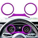 LAIKOU Dashboard Decorative Frame Cover Dash Board Panel Trim Interior Accessories fit for 2018-2021JeepWranglerJLJLU&GladiatorJT (Purple)
