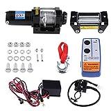 Cabestrante eléctrico de 12 V, con polea eléctrica, 12 V CC, altura de la polea de 15 cm, con mando a distancia inalámbrico