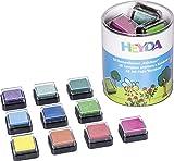 Heyda 204888470 Heyda 204888470 Mini-Stempelkissen Set (Rainbow) 3 x 3 cm , 10 Farben sortiert -