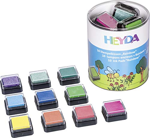 A3, 130 g // m2, 10 fogli 10 colori HEYDA Tonpapierblock,