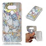 Docrax LG G6 / G6 Plus Handy Hülle mit Marmor Muster,