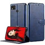 LeYi Hülle für Xiaomi Redmi 9C / 9C NFC Mit HD Folie Schutzfolie,Leder Handyhülle Stoßfest Wallet Etui Magnet Schutzhülle Tasche Slim Silikon Soft Cover Bumper TPU Hülle für Handy Redmi 9C Matt Blau