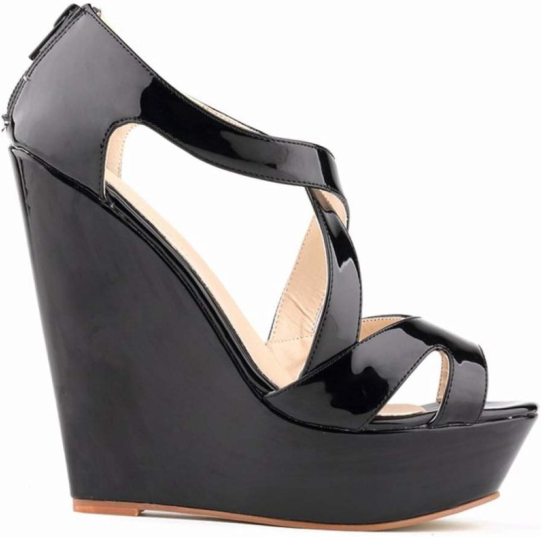 T-JULY Women Open Toe Fashion Platform High Heels Wedge Sandals Female shoes Woman shoes Sandals Summer New