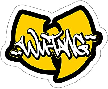 W Tang 5.25 inch Wide Logo  Hip HOP  Vinyl Decal Sticker for Cars Laptops Tablets Skateboard SSND1064