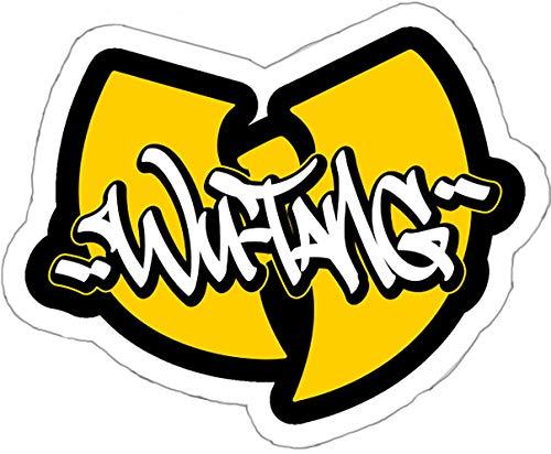Wu-Tang 5.25 pulgadas de ancho Logo | Hip HOP | calcomanía de vinilo para coches portátiles Tablets Skateboard SSND1064