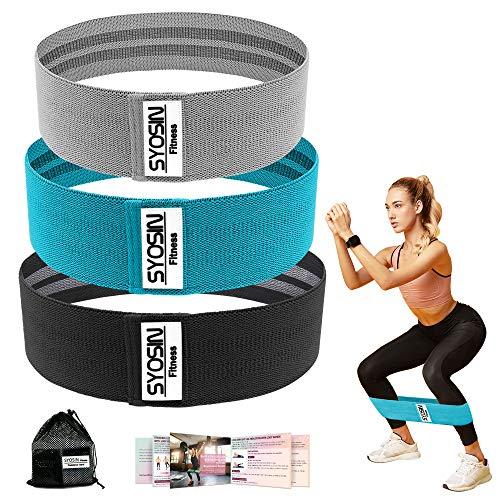 SYOSIN Fitnessbänder, [3er Set] Widerstandsbänder Set Loop-Band für Hüften und Gesäß, 3 Widerstandsstufen für Hintern, Beine und Ganzkörpertraining, Resistance Hip Bands (Blau-3)