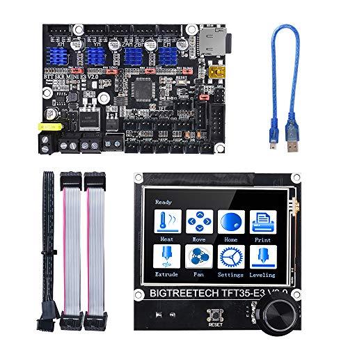 BIGTREETECH SKR Mini E3 V2.0 32-Bit-Steuerplatine mit TFT35 E3 V3.0-Touchscreen-Display RepRap Smart Controller Panel-Ersatz Original-Touchscreen für Ender 3 / Ender 3 Pro CR-10 3D-Drucker
