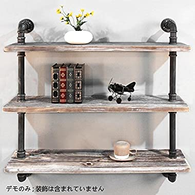 DIWHY Shelves Industrial Shelf with Pipe DIY Retro Wall Mount Iron Pipe Shelf Storage Shelving Bookshelf 36'' (DIA 32mm, Black)