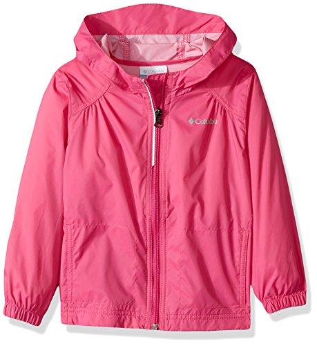 Columbia Girls' Big Switchback Rain Jacket, Pink Ice, Large