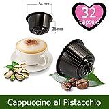 KICKKICK® 32 Capsule Cappuccino Pistacchio Compatibili Nescafè Dolce Gusto