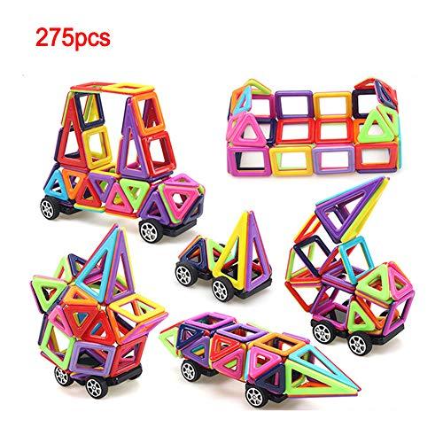 Magnetische Bausteine, 275 Stück Magnet Baustein, Pädagogische Bauklötze Spielzeug Für Kinder, 3D Grafiken Konstruktion Blöcke/Auto Spielzeug/Roboter/Animal/Ferris Wheel