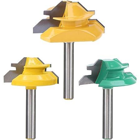 45 Degree Router Bit 1//4 Shank 1-1//2/'/' Tenon Cutter Lock Miter Router Bit