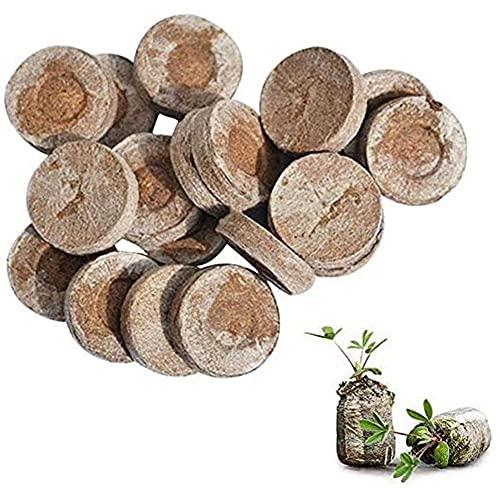 STARSAIL 30x Pastillas de turba comprimidas,Gránulos de Arranque de Planta,Gránulos de turba,con nutrientes turba, Bloque de Suelo de Semillas para Plantas, Cultivo de esquejes, plántulas y Semillas