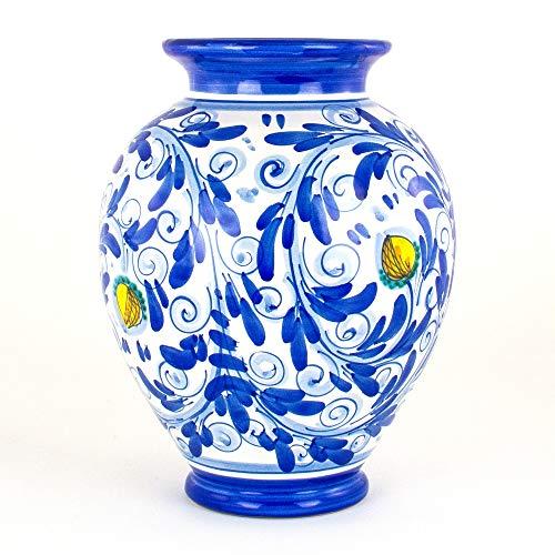 Vaso Ornamentale in Ceramica di Caltagirone Decorato a Mano
