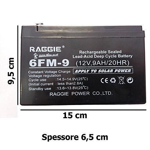 DOBO® Batteria Ermetica Ricaricabile Piombo gruppi di continuita 6V e 12V -...