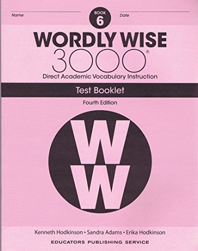 Wordly Wise, Grade 6 Test Booklet