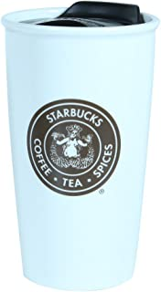 Starbucks Coffee Pike Place Double Wall Ceramic Travel Mug Cup, 12 oz
