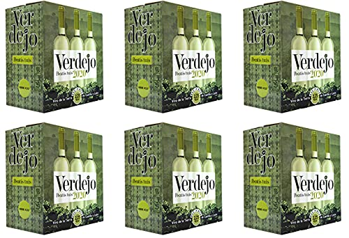 Cuatro Rayas Vino Blanco Verdejo en Bag in Box Pecatis Tuis- 6 Bag in Box de 2,25 L (13,50 l).