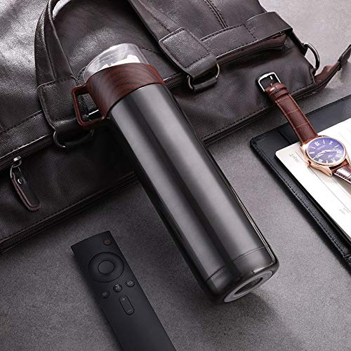 Yywl – Taza de viaje de acero inoxidable, botella de agua aislante, pistón térmico al vacío, botella de café a prueba de fugas, perfecta para la oficina y viajes