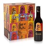 Leonardo Geniale - Vino Rosso d'Italia - Cofanetto con 6 Bottiglie da 187 ml