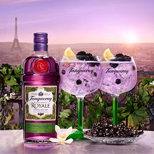 Tanqueray Blackcurrant Royale Distilled Gin – Ideale Spirituose für Cocktails oder Gin Tonic – 1 x 0,7l - 2