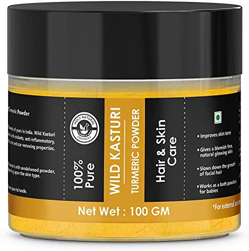 100% Pure wild kasturi turmeric powder for Skin & Face 100 GM by Holy Natural