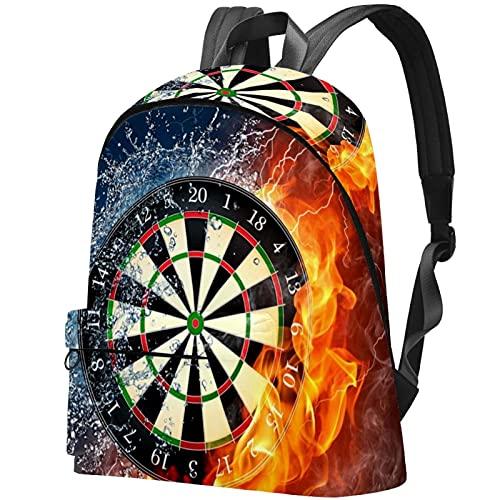 Staroutah Rucksack Bookbag Daypack Schultasche Wandern Backpacking Hohe Kapazität und niedliches Outdoor-Lernen Wasser- und Feuer-Dart-Plattenspieler für Frau und Mann