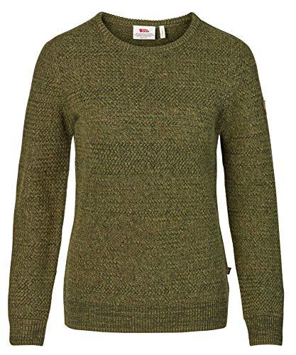 FJALLRAVEN Övik Structure Sweater W Sweatshirt für Damen S Grün (Laurel Green-Green)