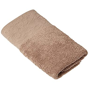 Luxury Fade Resistant Towel Set, Hand Towels(13x30 inch),Highly Absorbent, 100% Cotton - (Hand Towel - 2 Piece, Taupe Brown)