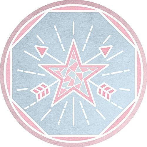 Yumanluo Alfombra Interior,Alfombra Circular Engrosada, Sala de Estar, Mesa de Centro, Dormitorio, mesita de Noche, cojín-A8_120cm,Alfombra De Pelo Largo para Sala De Estar