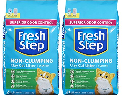 Fresh Step Extreme Clay, Non Clumping Cat Litter, Scented, 21 Pounds (2-Pack)