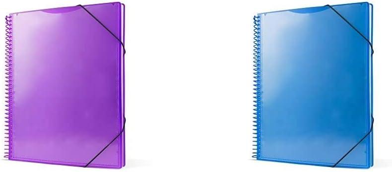 color azul Carpeta espiral con 60 fundas Pryse 4240062 color lila A4 Carpeta espiral con 50 fundas 4240056 A4